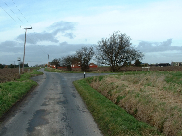 Junction of Craske Lane and Bushmeadow Lane