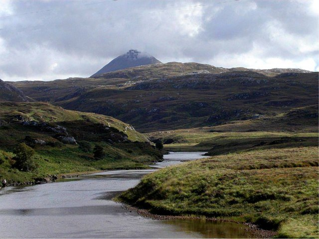 River Inver with Canisp jutting over the horizon