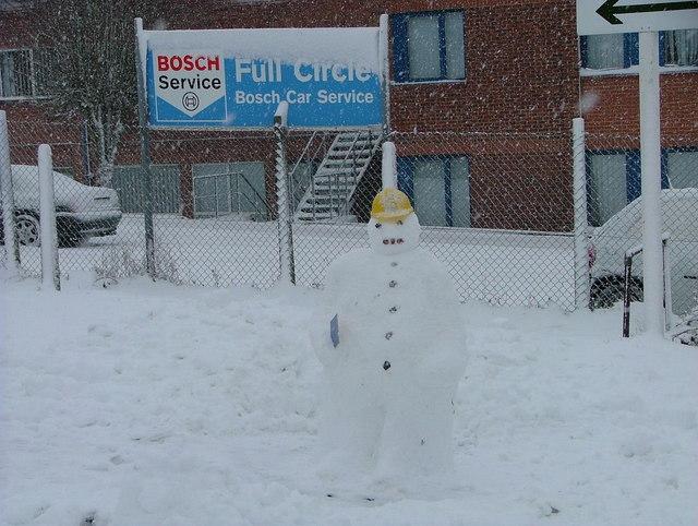 Snow(work)man in Cressex Business Park