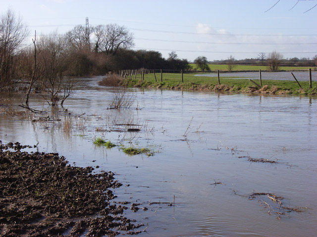 Padbury Brook in flood