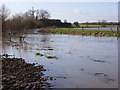 SP7232 : Padbury Brook in flood by Andrew Smith