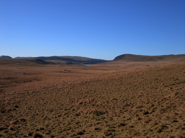 The wide valley of the Nant Melyn