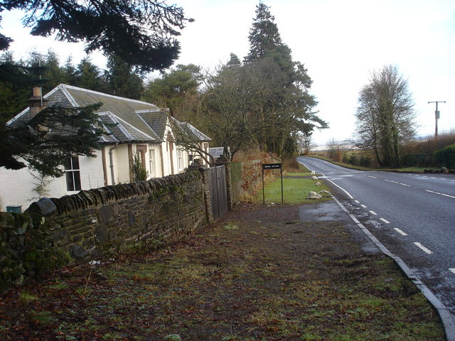 Road side cottage, Muir of Orchil, near Braco