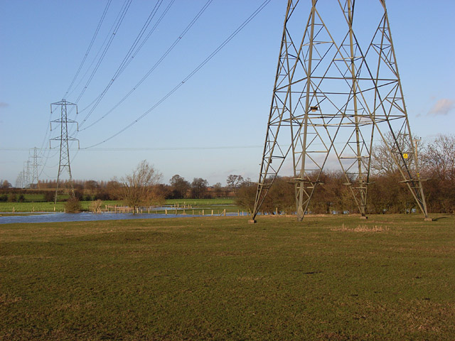 Pylons across the Great Ouse