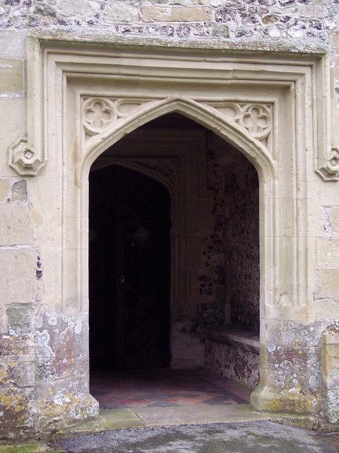 All Saints Church, Idmiston - Doorway