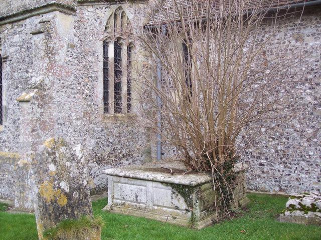 All Saints Church, Idmiston - Broken Tomb