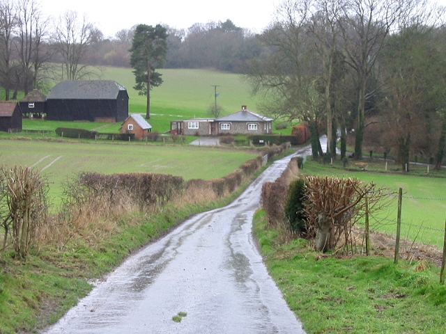 Looking W along Geddinge Lane