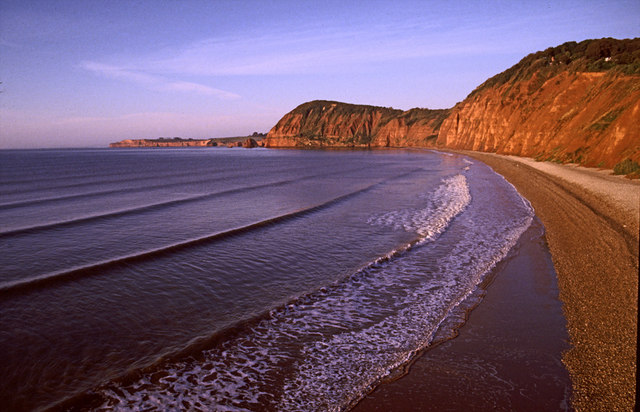 Sidmouth looking towards Peak Hill and High Peak, Devon