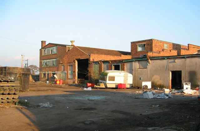 Disused factory, by Wrenbury Station