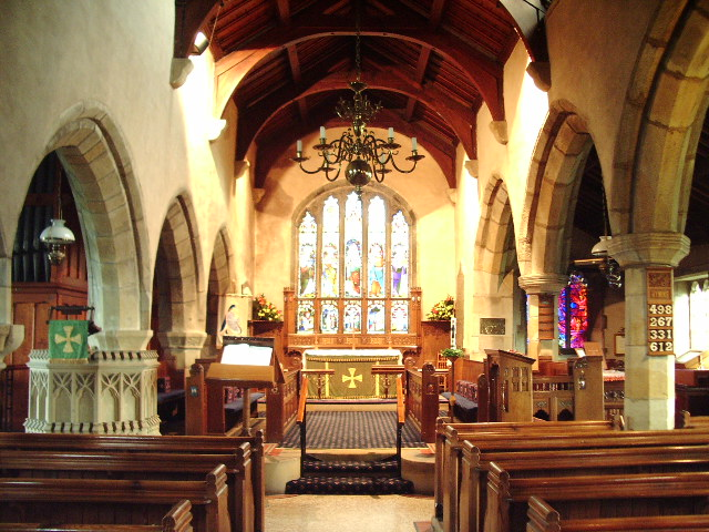 Interior of St Bartholomew Church, Chipping