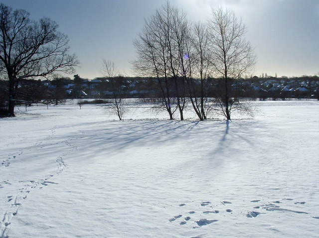 Oakwood Park in winter, N14