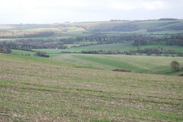 View down Gallows Hill