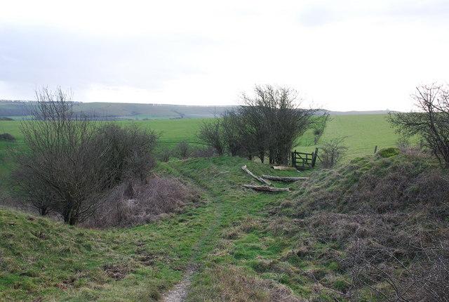 Track next to Cross Dyke