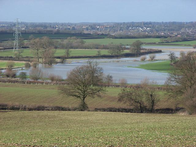 Padbury Brook in flood