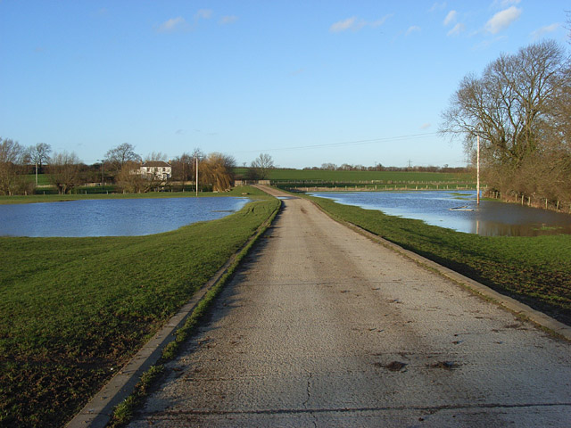 Sewage works road beside the Great Ouse