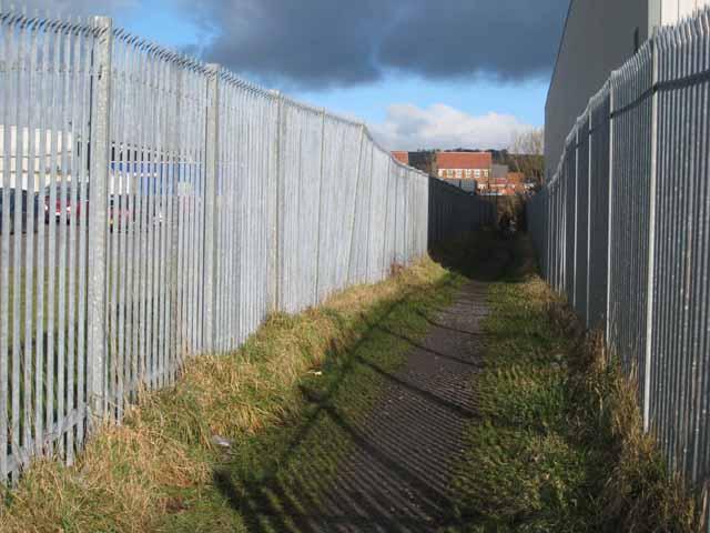 Fenced path, Crook