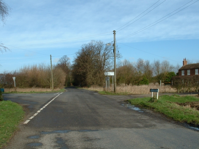 Road junction near Snake Hall