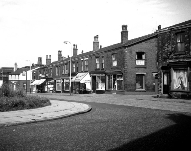 Shopping parade, Milkstone Road, Rochdale, Lancashire