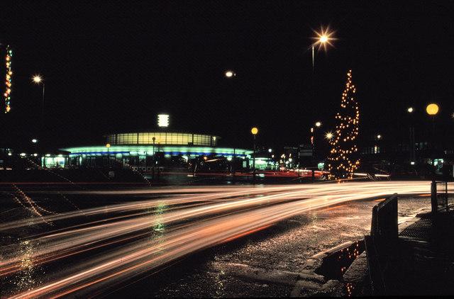 Southgate Underground Station at Night, N14