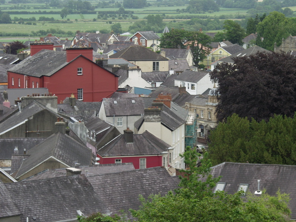 View over the rooftops of Llandeilo