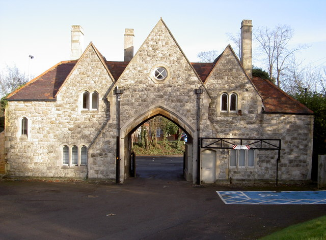Gatehouse exit from cemetery