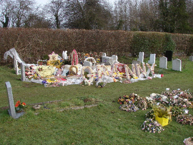 Floral tributes to Granny