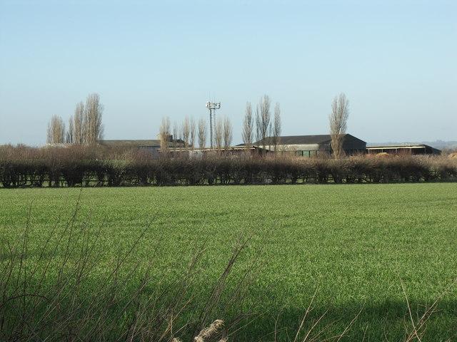 Rear of Little Bowden Lodge Farm.