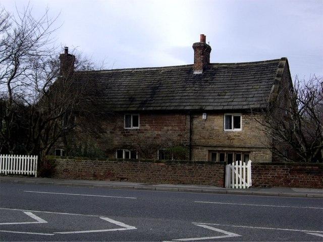 Sandstone cottage, Buckley Hill Lane