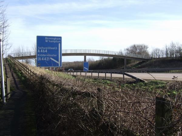 M54 Footbridge Stafford Park