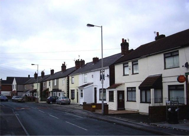 Terraced cottages, Waddicar Lane, Melling