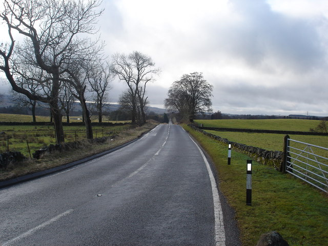 View south along line of Old Military Road looking towards Braco