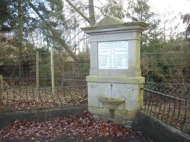 War Memorial, Tullibardine