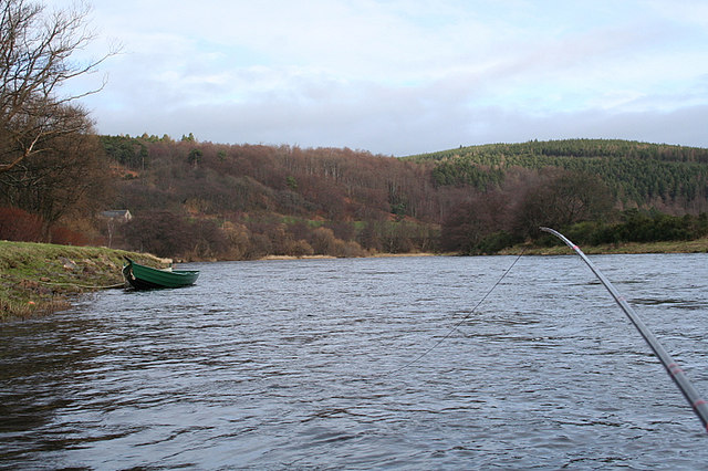 A salmon angler's point of view on Junction Pool at Rothes.
