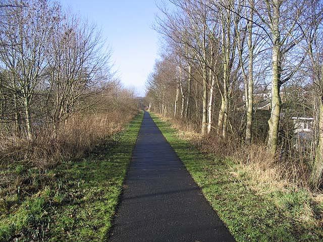 A footpath in Melrose