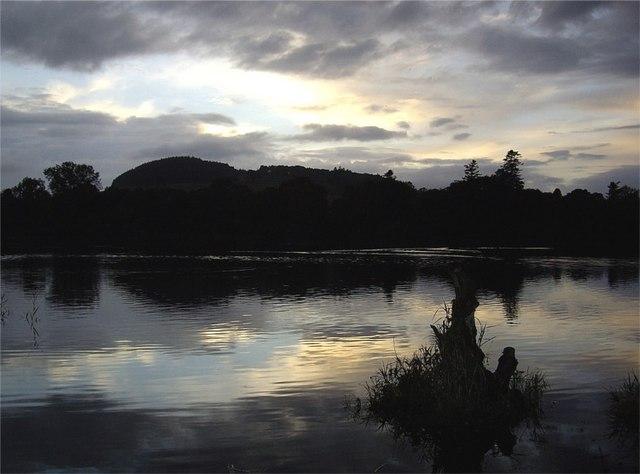 Sunset over Loch of Clunie