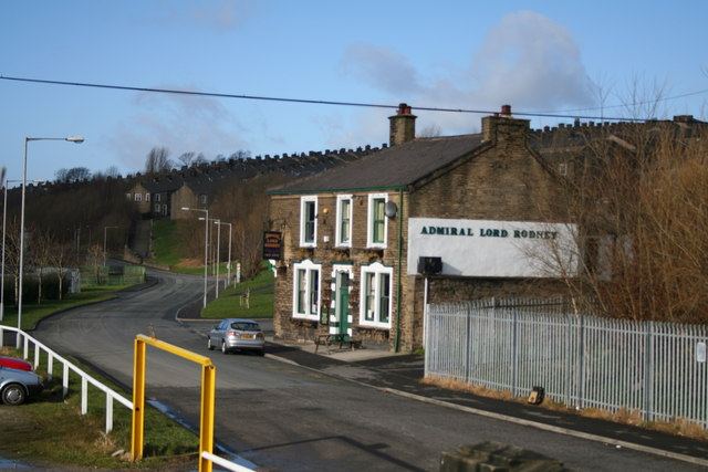 The 'Admiral Lord Rodney' public house, Colne, Lancashire