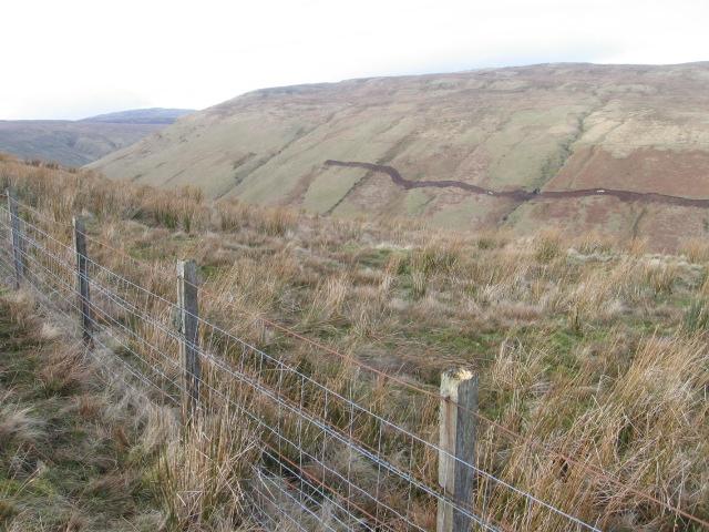 Fin Glen with new bulldozed scar on hillside