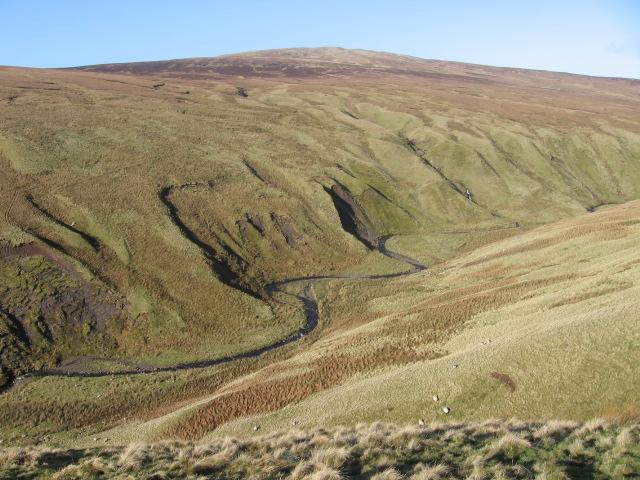 Across Fin Glen and Craigbarnet Muir to Earl's Seat