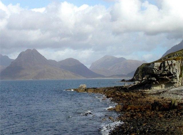 Rocky shore on Loch Scavaig