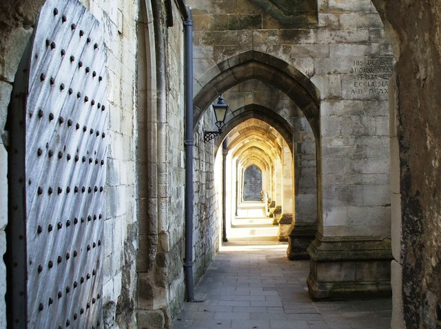 Buttresses at Winchester Cathedral