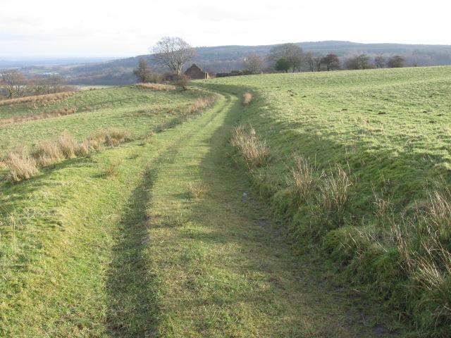 Track towards Glenside farm ruin
