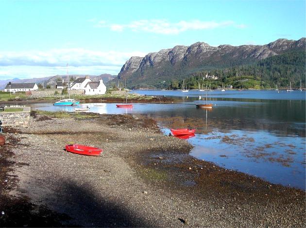 Moored boats in Plockton Bay