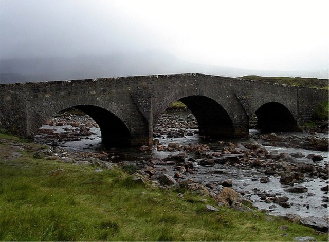 The old bridge over River Sligachan