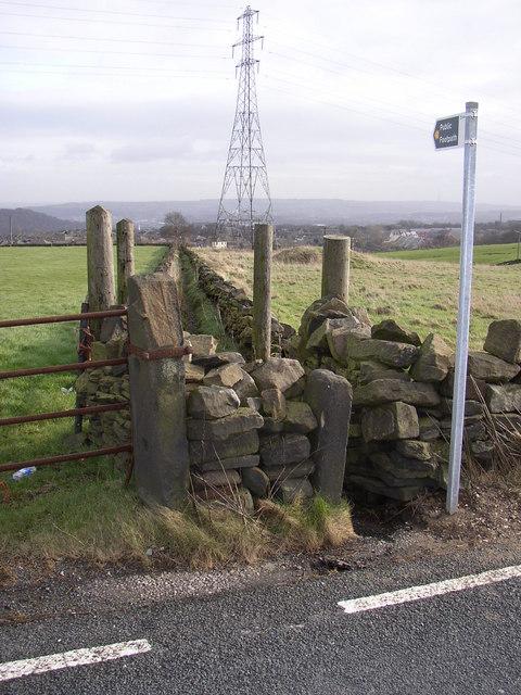 Footpath off Crosland Road, Lindley cum Quarmby