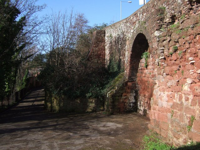 Exeter: the walls behind the Custom House