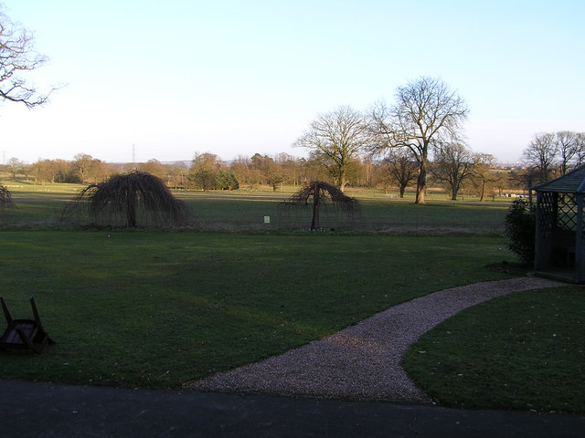 Pendrell Hall grounds with Wolverhampton on the skyline