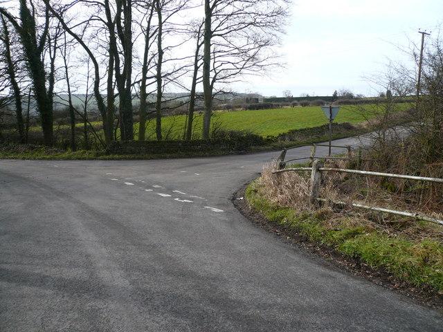 Bath Lane Junction with Hut Lane