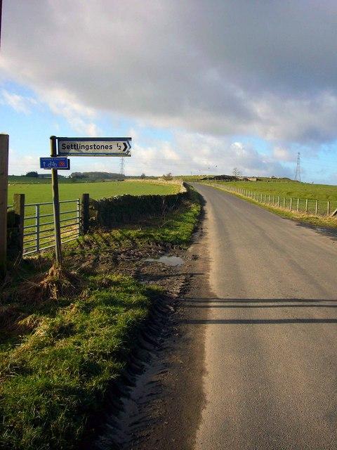 The 'Stanegate' near Settlingstones