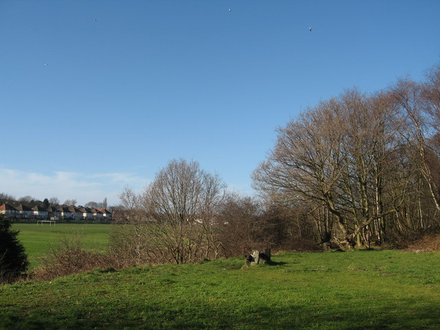 Childwall Playing Fields from the Trans-Pennine Way