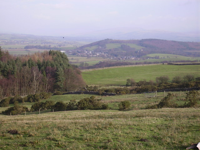 Lune Valley from above Claughton